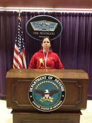 At the Pentagon, 2012