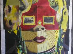 Colloborative Mural- The Face, Salvador Dalí